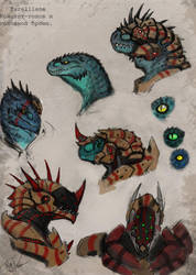 Concept heads and helmets by KIRILL-PREDATOR