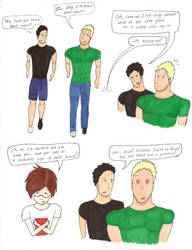 Brad and Arnold by Awesomely-Happy-Hero