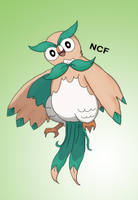 Rowlet's final evolution by NickFreak98