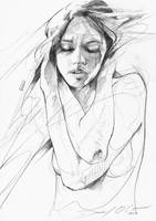Pencil Figure Drawing by ART-BY-DOC