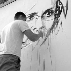 Street Mural Work In Progress by ART-BY-DOC