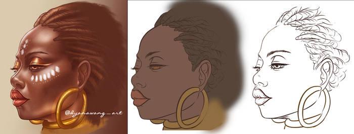 Beautiful African woman by DyanaWang