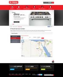 FRESH Egypt Appliance - Service Center Page by MaiEltouny