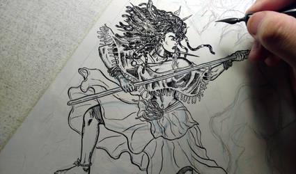 2017 Stranger Comics - NIOBE Pinup 2 Pic 4 of 13 by arielaguire
