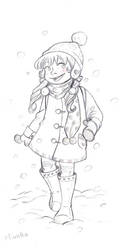 a girl in the snow by Sori-Chan