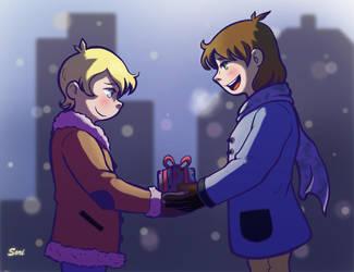 Little Xmas Gift Ike and Kurt :3 by Sori-Chan