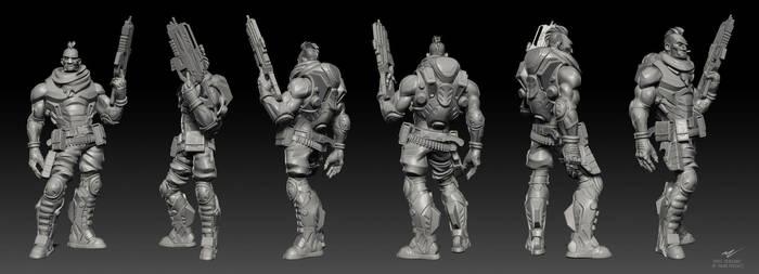 Space mercenary model by M-Wicz