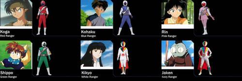 Inuyasha Card Force Rangers by AdrenalineRush1996