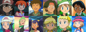 Pokemon Main Protagonists by AdrenalineRush1996