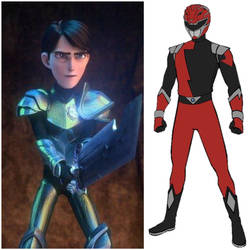 Jim Lake as Hyperforce Red (Toku Unlimited) by AdrenalineRush1996