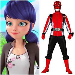 Marinette Dupain-Cheng as Beast Morpher Red (TUP) by AdrenalineRush1996