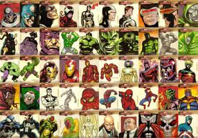 Marvel Masterpieces Series 2 by ryanorosco
