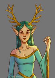 Antlered Elf by Kagatermie