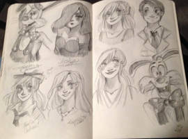 Who Framed Roger Rabbit Sketches! WOOT! by princessofDisney27