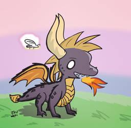 Spyro's back by Dazeinnight