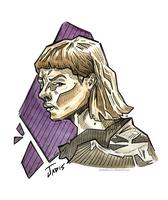 'Angular' Day 16 Inktober (Jadis) by KookyRaccoon