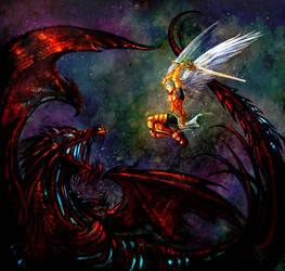 Michael Vs. Satan by Esther-Sanz