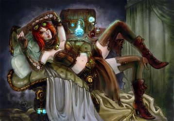 Steampunk alchemist by Esther-Sanz