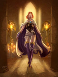 Faria, elf cleric by Esther-Sanz
