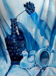 2nd acrylic still life by beckhanson
