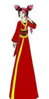 Miko Wearing a Kimono by dragongirl117