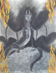 Charcoal Dragon 2 by dragongirl117