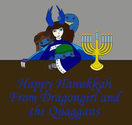 Hanukkah with my Quaggans by dragongirl117