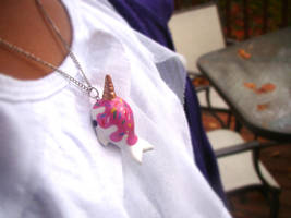 Ice cream narwhal necklace by SprinkleChick