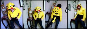 Half Shirt Pikachu Hoodie by OneBadHat