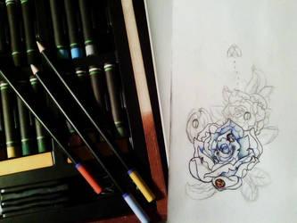Rose Tattoo WIP by OneBadHat