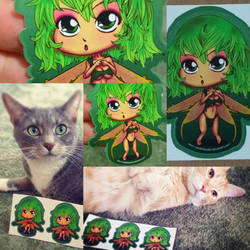 Forrest fairy stickers by OneBadHat