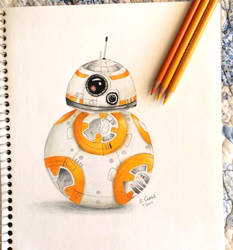 BB8 colored by ElvenWarrior14