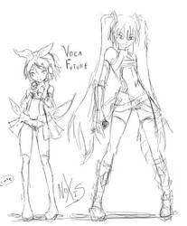 VocaFuture - Sketch by xxNOXISxx
