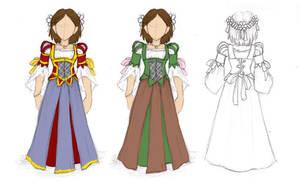 Ren Faire Dress Ideas by NekoDragon