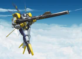 Flying Silver Sniper by ksenolog