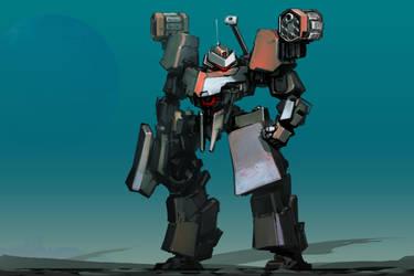 Revolver Shoulder Bot by ksenolog