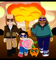 SU: Cool family don't look at explosions by RoseMary1315