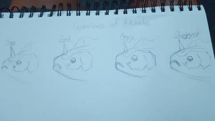 [PTS] - Akheilos and his expressions by Nightshadoe