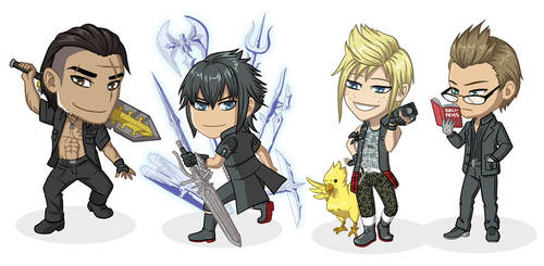 Final Fantasy XV Chibis by Nokuthula