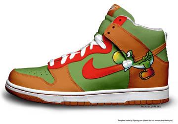 Yoshi Custom Nike by RachaelLoraine