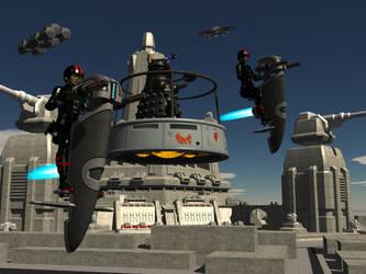 Dalek Scouts by IcehawkPrime