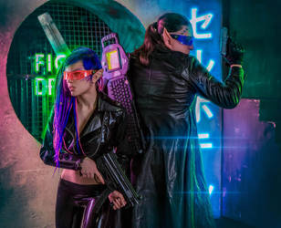 Shadowrun is one of the best cyberpunk universes by octokuro