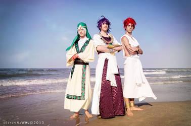Magi ~ Jafar, Sinbad and Masrur by Yamato-Leaphere