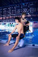 Free! ~ Haruka and Makoto by Yamato-Leaphere