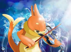 Bui as violinist by bobocatllj