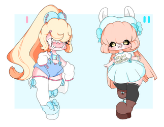 Adoptables Open! 1/2 by nonfu