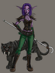 WoW: Night Elf hunter by areve