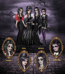 Gothic Icons by kharis-art