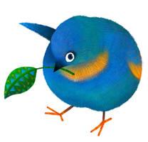 Blue bird by pikaole