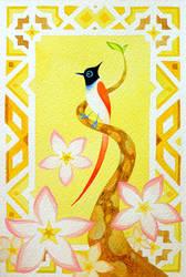 Paradise flycatcher by pikaole